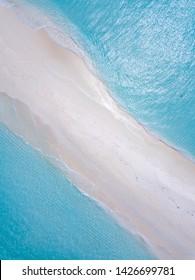 Maldives Sandbank, Faadhippolhu. Sandbank beach and waves.