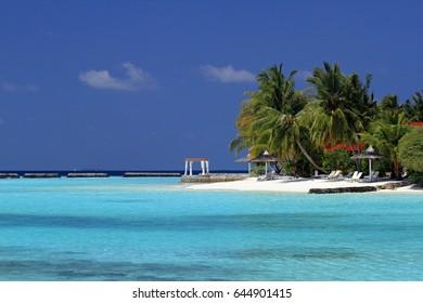 Maldivian beach, Ari Atol, Maldives