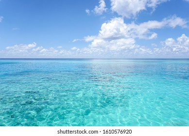 The Maldivian blue water at the Indian ocean.