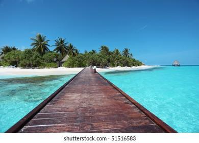 Maldivian runway leading towards your island of dreams