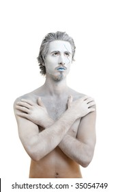 Male actor playing role of  water spirit