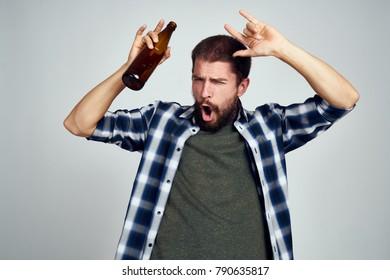 male alcoholism, beer, bad habits
