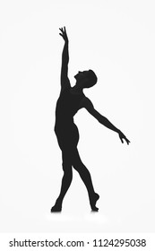 male ballet dancer silhouette