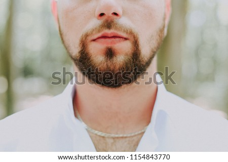 Man with beard hairy chest