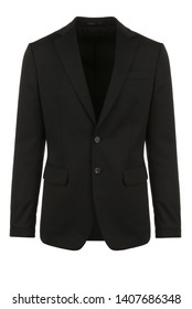 Male black blazer on isolated background, men jacket
