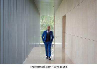 Male in Blue Suit
