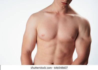 Male body muscle
