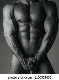 Male body with six pack abs