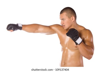Male boxer, a fighter. Sports.