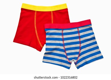 Male (boy) brief boxers isolated on white background/ Flat layer/ Top view