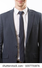 Male business suit close-up