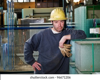 Male Construction Worker in shop