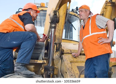 Male Construction Workers on the job