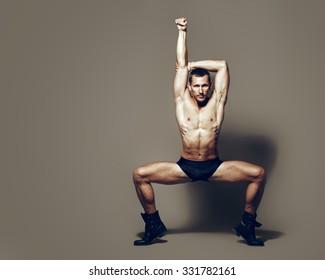 Male dancer, modern choreography
