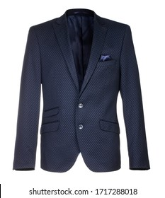 male dark blue blazer isolated on white