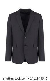 Male dark grey blazer on isolated background, men jacket