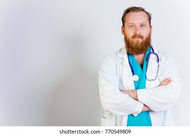 Male doctor at his office