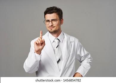 Male doctor in white coat medicine medicine dentist hospital