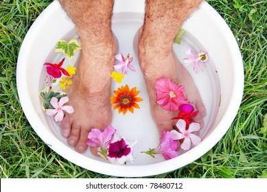 male feet spa