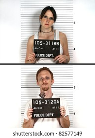 Male and Female Criminal Mug Shots