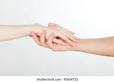male and female hands