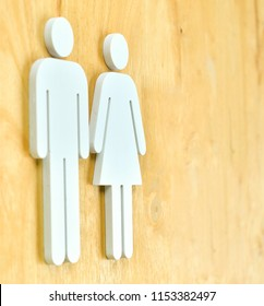 Male and Female Restroom ,toilet sign