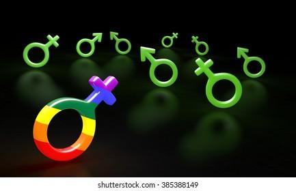 Male and female symbols combination