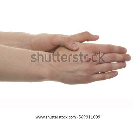 Male Hand Anatomy Studio Shot 3 D Stock Photo (Edit Now) 569911009