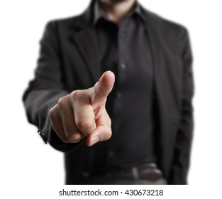 male hand pointing,businessman