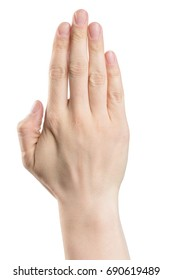 male hand sign, isolated with clipping path on white background