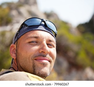 Male in hike