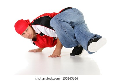 Male hip hop dancer in different positions