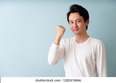 Male image in white T shirt