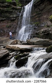 Male at Kaaterskill Falls, Catskill Mountains, New York