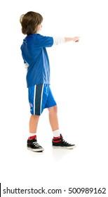male kid child model isolated white background