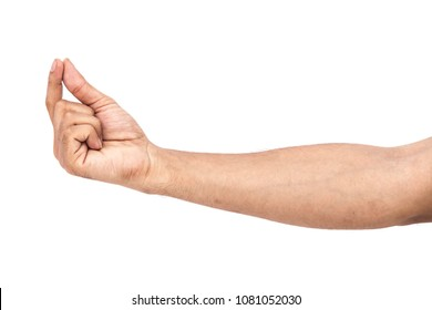 male man boy Caucasian hand gestures isolated over the white and Black background, set of multiple images, Asian hand with different signs and angles with elbow and arm and showing different things