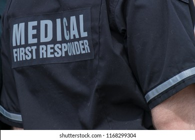 A male medical first responder