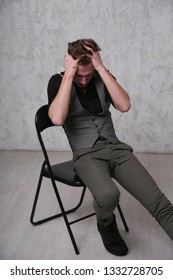 Male, model, actor, man, guy, Emotions, sad, pain, lone, loneliness, cry, crying, psycho, thinks, face, fashion