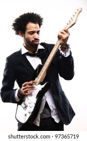 Male model with a Guitar