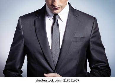 Male model in a suit