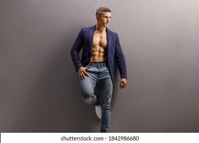 Suit Shirtless