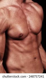 male muscular body details