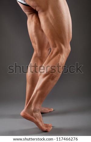 Male Muscular Legs Stock Photo (Edit Now) 117466276 - Shutterstock