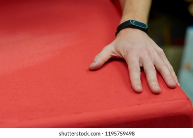 Male paint the surface. Surface treatment