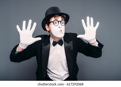 Male pantomime actor fun performing - Shutterstock ID 617292068