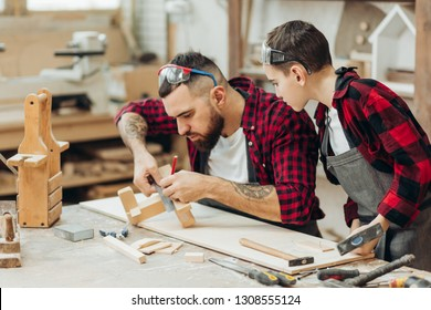 Male parent who has any carpentry experience will be able to share to his child the elementary knowledge of working with wood in wooden workshop.