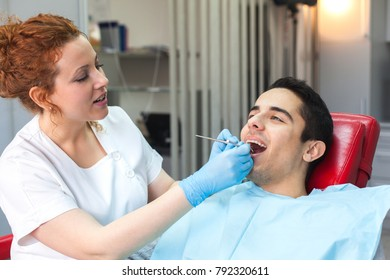 Male patient at the dentist's