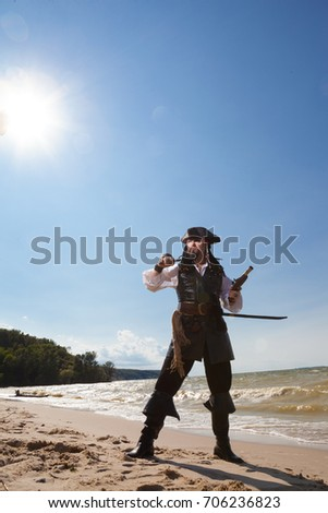 Male pirate with a