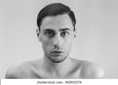 Male portrait in black and white