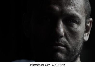 Male portrait in low key
